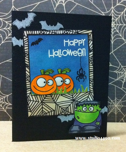 Happy Halloween Materials used: Stamps - Halloweenies (Paper Smooches), Happy Haunting, Say Cheese (Lawn Fawn); Distress Ink, Copic Markers; Cardstock - American Crafts, Knights; Ink Pads - Whisper White (Stampin' Up!), Onyx Black (Versafine), Jet Black (StazOn), Embossing Powder - White (PSX) and Glossy Accents.