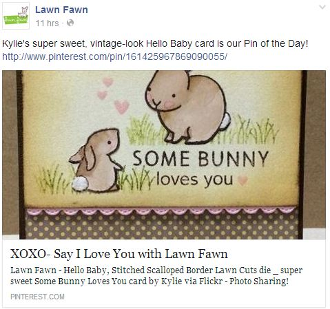 Lawn Fawn - Pin of the Day - 8th July, 2014