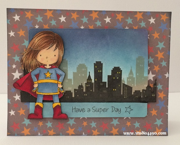 """Have a Super Day Materials used:  Stamps - Birdie Brown You're Awesome (My Favourite Things); Dies  - Die-Namics Blueprints 5 (My Favourite Things); Designer Paper - Party with Amy Locurto """"Boy"""" (Pebbles Inc.); Distress Inks and Copic Markers."""