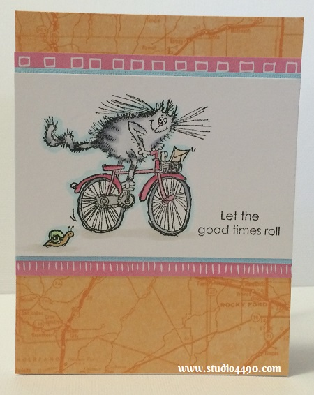 Let the Good Times Roll Materials used:  Stamps - You're Retro! (Penny Black); Cardstock - Doodlebug Design, Unknown; Designer Paper - Rise & Shine (Amy Tangerine/American Crafts); and Copic Markers.