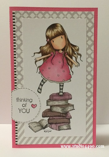 Thinking of You Materials used: Stamps - New Heights (Gorjuss/DoCrafts), Thinking of You (KaiserCraft), Making Frosty Friends (Lawn Fawn) ; Copic Markers, Cardstock - Doodlebug Design, Knights Smooth; Designer Paper - Black & White (Glitz) and Circle Craft Punch (Fiskars).