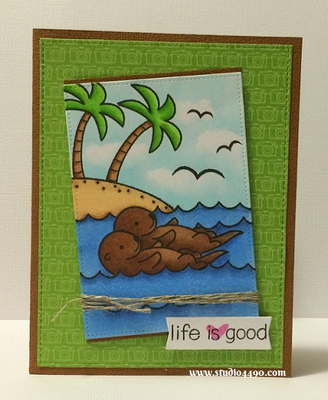 Life is good Materials used: Stamps - Life is Good, Year Five (Lawn Fawn); Dies - Die-namics Blueprints 13, Pierced Rectangle Stax (MFT); Cardstock - Knights Smooth, Doodlebug Design; Designer Paper - Sunkissed (Doodlebug Design), Twine (Stampin' Up!) and Copic Markers.