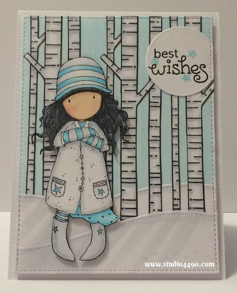 Best Wishes Materials used: Stamps - Toadstools (Gorjuss/DoCrafts), Joy to the Woods (Lawn Fawn), A Little Sentimental (Clearly Besotted); Cardstock - Knights Smooth, American Crafts; Dies - Die-namics Blueprints 13 (My Favourite Things), Stitched Hillside Borders (Lawn Fawn), Circles (Sizzix); Copic Markers, and Distress Inks.